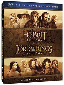 Coffret terre du milieu : trilogie le hobbit ; trilogie le seigneur des anneaux [Blu-ray]