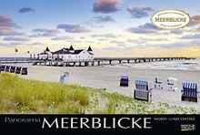 Meerblicke - Nord- und Ostsee 2021: Großer Foto-Wandkalender von der Küste und dem Meer in Deutschland. Edler schwarzer Hintergrund. PhotoArt Panorama Querformat: 58x39 cm.