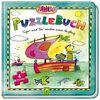 Janosch Puzzlebuch - Tiger und Bär machen einen Ausflug: Mit 4 Puzzles á 12 Teilen