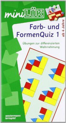 miniLÜK: Farb-und Formenquiz 1: Dr Fitmacher für Vorschulkinder und Erstklässler: Für Kinder von 5 bis 7. Der Fitmacher für Vorschulkinder und Erstklässler