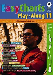 Easy Charts Play-Along: Die größten Hits spielerisch leicht gesetzt. Band 11. C/Eb/Bb-Instrument. Ausgabe mit Online-Audiodatei. (Music Factory)