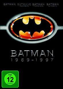 Batman 1989-1997 (Batman / Batmans Rückkehr / Batman Forever / Batman & Robin) [4 DVDs]