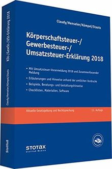 Körperschaftsteuer-, Gewerbesteuer-, Umsatzsteuer-Erklärung 2018