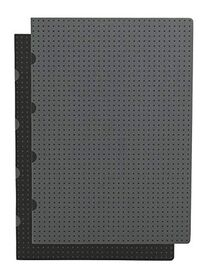 Black on Grey / Grey on Black Journal: Unlined A5 (Cahier Circulo)