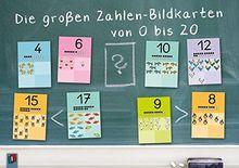 Die großen Zahlen-Bildkarten von 0 bis 20: für den Anfangsunterricht