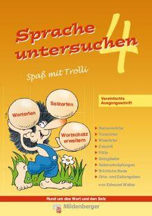 Sprache untersuchen - Spaß mit Trolli 4: Vereinfachte Ausgangsschrift