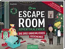 Escape Room. Die drei unheimlichen Geschenke. Der Adventskalender für Kinder von Eva Eich: Löse 24 Rätsel und öffne den Ausgang