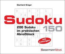 Sudoku Block 150: 200 Sudoku im praktischen Abreißblock