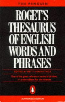 Roget's Thesaurus of English words and phrases (Reference Books)