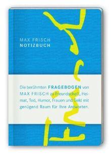 Notizbuch mit den Fragebogen von Max Frisch (suhrkamp taschenbuch)