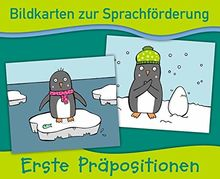 Bildkarten zur Sprachförderung: Erste Präpositionen