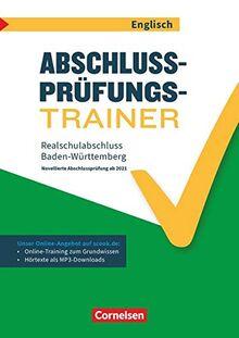 Abschlussprüfungstrainer Englisch - Baden-Württemberg: 10. Schuljahr - Realschulabschluss (WET): Arbeitsheft mit Lösungen und Online-Training Grundwissen (2. Auflage). Mit Lösungen online