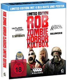 Rob Zombie Horror Kultbox (Limited Edition mit 4 Kult-Horror-Hits auf Blu-ray, Sammelschuber und Poster)
