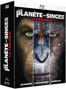 Coffret la planète des singes 3 films : les origines ; l'affrontement ; suprémacie [Blu-ray] [FR Import]