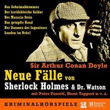 Neue Fälle von Sherlock Holmes & Dr. Watson - 5 CDs: Das Geheimabkommen / Der kreidebleiche Soldat / Der Mazarin Stein / Das getupfte Band / Der Daumen des Ingenieurs / London im Nebel