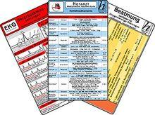 Notarzt Karten-Set - Herzrhythmusstörungen, Notfallmedikamente, Beatmung - Oxygenierungs-Störungen, EKG Auswertung
