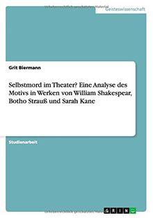 Selbstmord im Theater? Eine Analyse des Motivs in Werken von William Shakespear, Botho Strauß und Sarah Kane