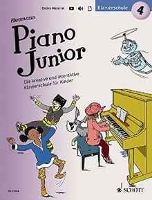 Piano Junior: Klavierschule 4: Die kreative und interaktive Klavierschule für Kinder. Band 4. Klavier. Ausgabe mit verschiedenen Online-Materialien. (Piano Junior - deutsche Ausgabe)