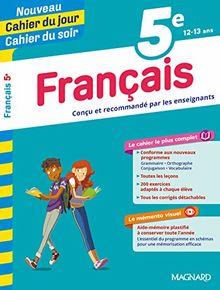 Cahier du jour/Cahier du soir Français 5e