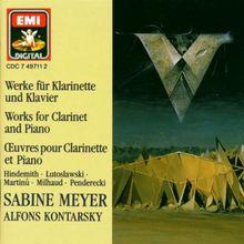 Werke für Klarinette und Klavier