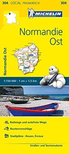 Michelin Normandie Ost: Straßen- und Tourismuskarte 1:150.000 (MICHELIN Localkarten)