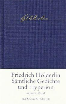 Sämtliche Gedichte Und Hyperion Von Friedrich Hölderlin