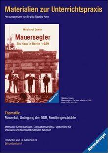 Materialien zur Unterrichtspraxis - Waldtraut Lewin: Mauersegler - Ein Haus in Berlin - 1989