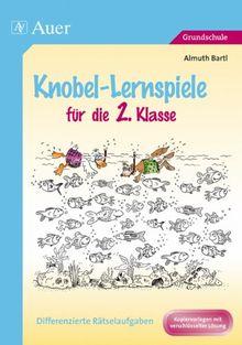 Knobel-Lernspiele für die 2. Klasse: Differenzierte Rätselaufgaben. Kopiervorlagen mit verschlüsselter Lösung