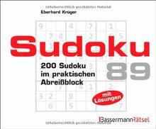 Sudoku Block 89: 200 Sudoku im praktischen Abreißblock