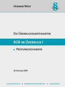 BGB im Überblick 1. Übersichtskarten: Zivilrecht. BGB AT. Schuldrecht. Sachenrecht