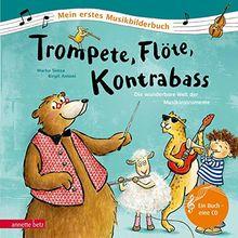 Trompete, Flöte, Kontrabass: Die wunderbare Welt der Musikinstrumente (Mein erstes Musikbilderbuch)