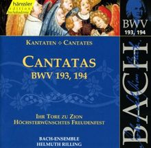 Edition Bachakademie Vol. 58 (Geistliche Kantaten BWV 193, 194)
