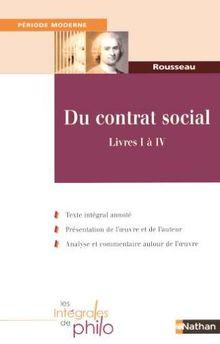 Du contrat social : Livres I à IV