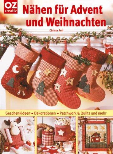 n hen f r advent und weihnachten geschenkideen dekorationen patchwork quilts von christa rolf. Black Bedroom Furniture Sets. Home Design Ideas