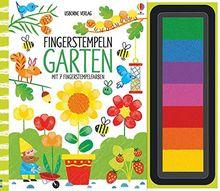 Fingerstempeln: Garten: mit 7 Fingerstempelfarben