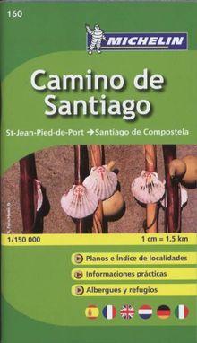 Camino de Santiago: St-Jean-Pied-de-Port -> Santiago de Compostela (Michelin Zoomkarte)