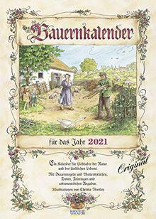 Bauernkalender 2021: Wandkalender mit Bauernweisheiten und passenden Bildern. DIN A3 mit Foliendeckblatt.