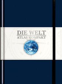 Die Welt Atlas kompakt, Leder blau