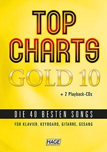 Top Charts Gold 10 + 2 CD´s Playback mit Felix Jaehn, Taylor Swift, Andreas Bourani, Cro, Rihanna, Sunrise Avenue, Wiz Khalifa, Robin Schulz, Sarah Connor, Lena, Ed Sheeran u.v.m.
