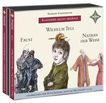 Weltliteratur für Kinder: 3-er Box Deutsche Klassik: Faust, Wilhelm Tell, Nathan der Weise: Sprecher: Otto Sander, Joachim Meyerhoff u.v.a. 3 CD Multibox.