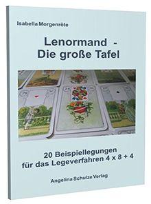 Lenormand - Die große Tafel: 20 Beispiellegungen für das Legeverfahren 4 x 8 + 4