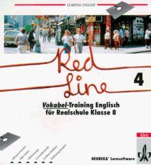 Learning English, Red Line, Tl.4 : Vokabeltrainer, für PC, 1 Diskette (3 1/2 Zoll) Englisch für Realschule Klasse 8
