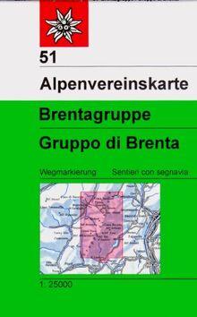 Brentagruppe: Topographische Karte 1:25.000