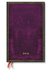 Paperblanks - Faux Leder Cordobarot - Kalender 12 Monate 2019 Maxi Wochenüberblick Horizontal - deutschsprachige Ausgabe