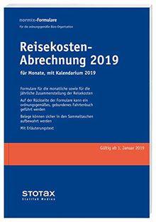 Reisekosten-Abrechnungen 2019 mit Kalendarium