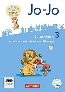 Jo-Jo Sprachbuch - Allgemeine Ausgabe - Neubearbeitung 2016 / 3. Schuljahr - Arbeitsheft: Mit interaktiven Übungen auf scook.de und CD-ROM