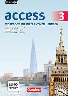 English G Access - Allgemeine Ausgabe: Band 3: 7. Schuljahr - Workbook mit CD-ROM und Audio-CD: Mit interaktiven Übungen