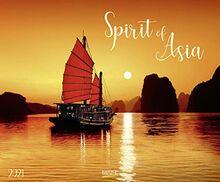 Spirit of Asia 2021: Großer Wandkalender. Foto-Kunstkalender über das Land des Lächelns. Querformat 55 x 45,5 cm.