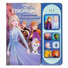 Disney Die Eiskönigin 2 - Interaktives Pappbilderbuch mit 7 zauberhaften Geräuschen für Kinder ab 3 Jahren