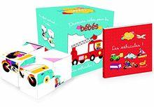 Les véhicules : Coffret 4 cubes et 1 livre
